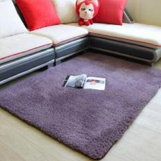 Thảm lông trải sàn phòng khách cao cấp 1m6x2m (Màu tím đậm) – Kmart