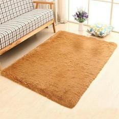 Thảm lông trải sàn phòng khách cao cấp 1m6x2m (Màu vàng) – Kmart