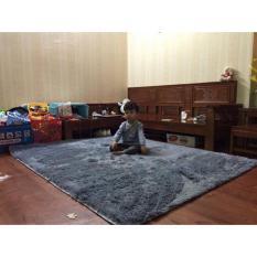 Thảm lông trang trí phòng khách loại 1,6x 2m( ghi xám)