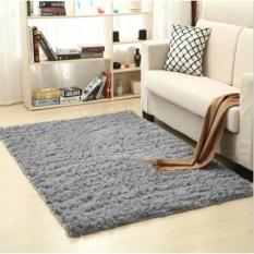 Thảm salon phòng khách Polyester Cao cấp Arte (80x120cm) – Xám