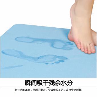 Thảm siêu thấm Nhật Bản tiện dụng Size to 60x39x0.9 cm (Xanh)