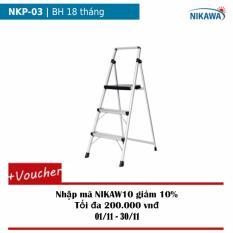 Thang ghế 3 bậc Nikawa NKP-03 (Trắng phối đen)