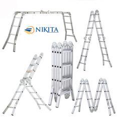 Thang nhôm gấp 4 đoạn 3,7m  Nikita TGA37