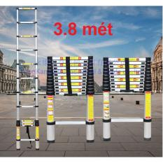 Thang nhôm rút gọn đơn tiêu chuẩn Đức cao cấp 3.8 mét