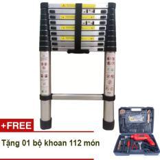 Thang rút nhôm Kawachi 2.9m + Tặng bộ khoan DIY 112 món