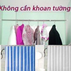 Thanh treo rèm đa năng không cần khoan (70cm-120cm) (Trắng)