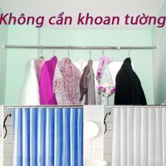 Thanh treo rèm đa năng không cần khoan tường (90cm-160cm) (Trắng)