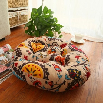 Thick Cotton Chair Cushions Bohemia Simple Style Colorful Seat Cushion Round Floor Cushion Pad Home Office 45x45cm - intl