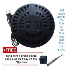 Thiết bị đổi nguồn điện từ 220 ra 110 volt 1000VA LIOA kèm phích đổi và vít thử điện
