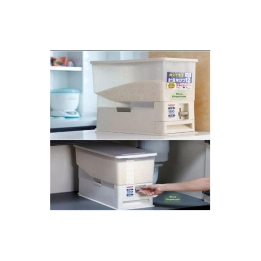 Hình ảnh Thùng Đựng Gạo Thông Minh Rice Box The Flamme 15kg (Trắng)