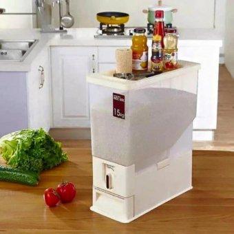Thùng Đựng Gạo Thông Minh Rice Box(Trắng)