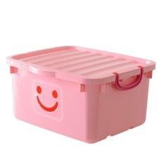 Thùng nhựa có nắp Happy Box YW-14 (Hồng nhạt)