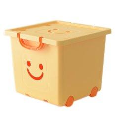 Thùng nhựa đựng đồ có bánh xe Happy Box – YW-07 (Vàng nhạt)