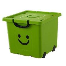 Thùng nhựa tiện lợi có bánh xe Happy Box YW-04 (Xanh lá cây)
