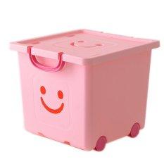 Thùng nhựa vuông Happy Box YW-06 (Hồng nhạt)