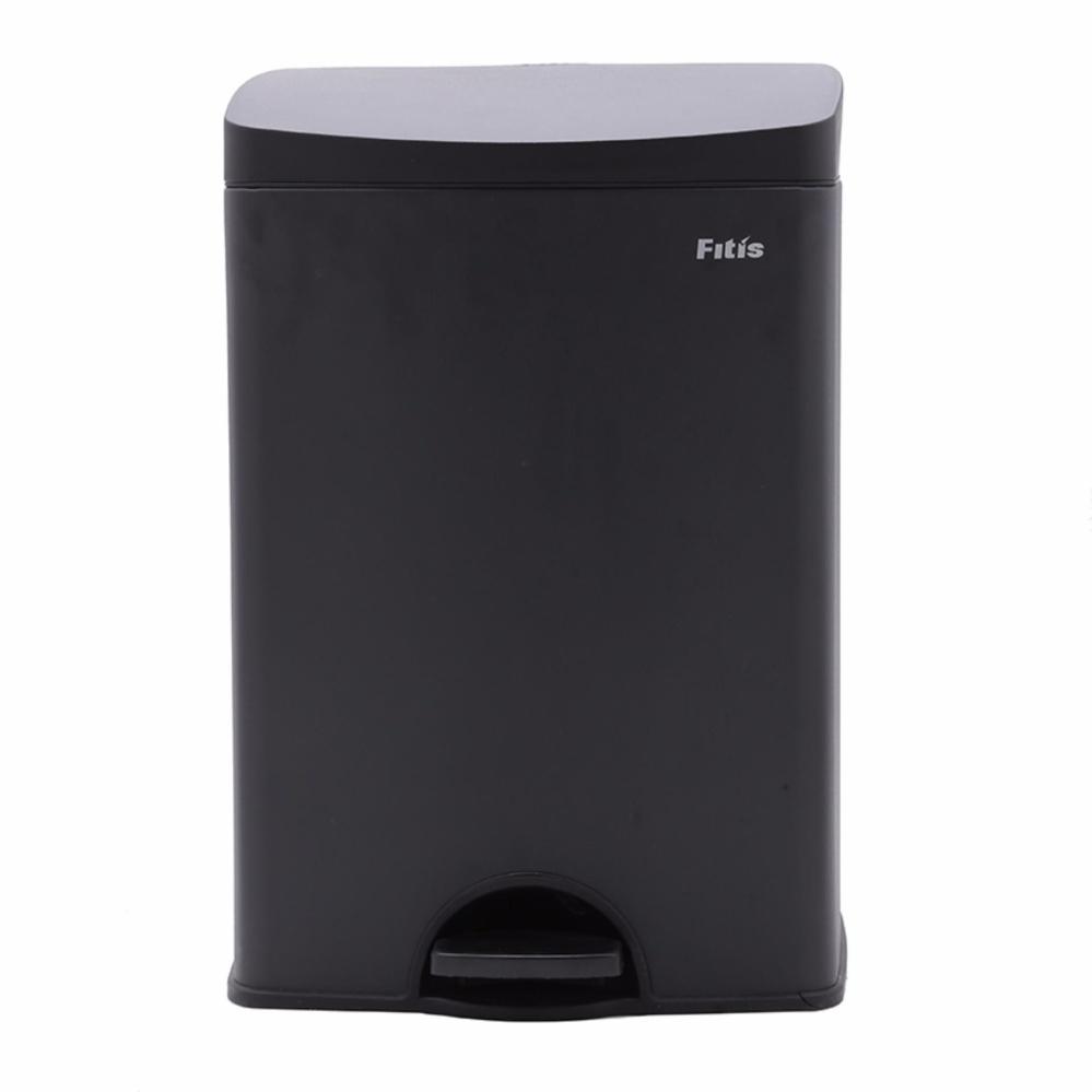 }Thùng rác Fitis Premium đạp vuông nhỏ đen SPS1-903.L