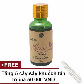 Tinh dầu Lavender nguyên chất Ngọc Tuyết 30ml tặng 5 cậy sậy khuếch tán tinh dầu