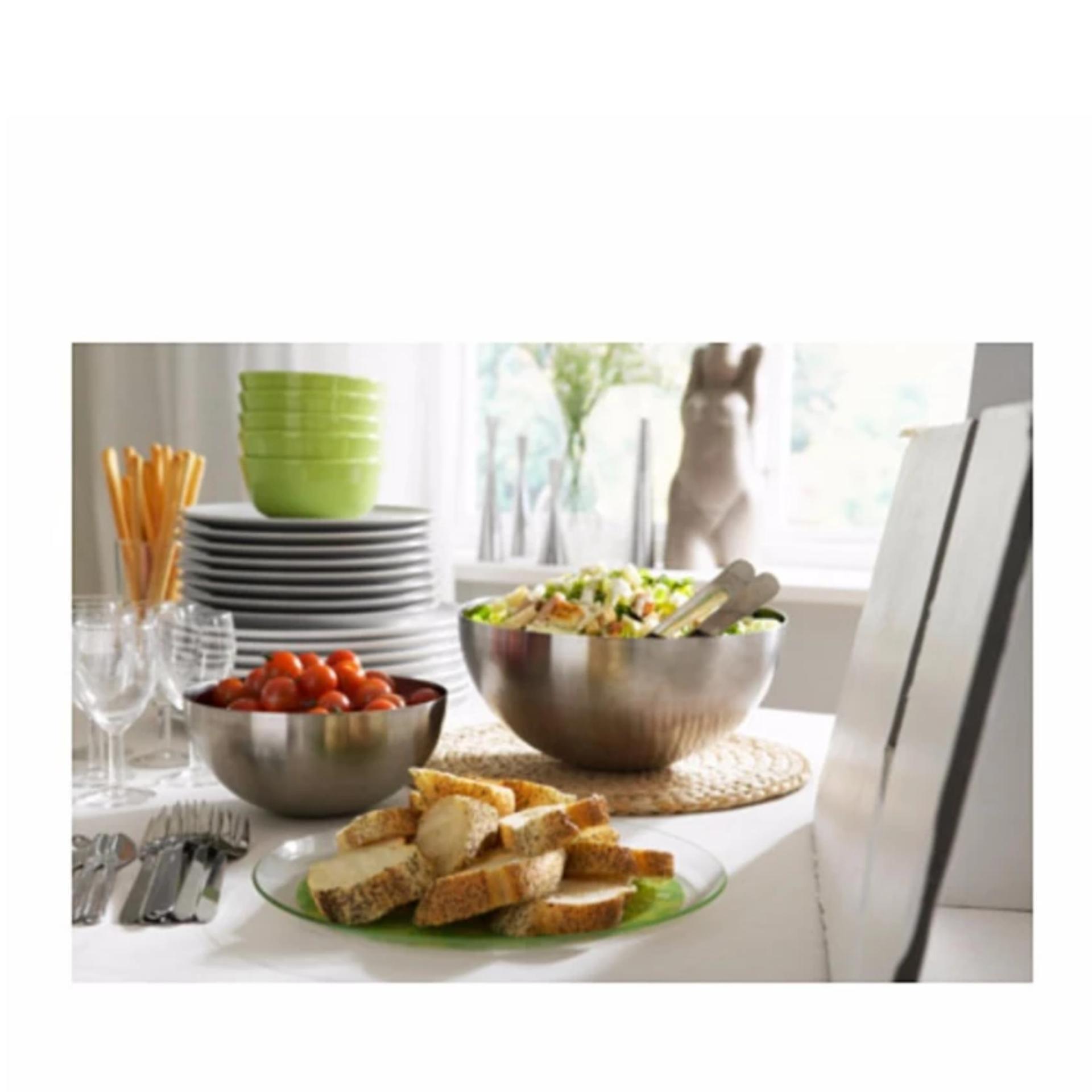 Tô inox trộn salad ikea cỡ lớn (28cm)