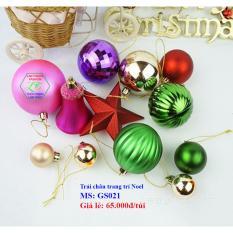 Trái châu trang trí Noel siêu xinh GS021 (NHIỀU MÀU) | Phụ kiện Giáng Sinh
