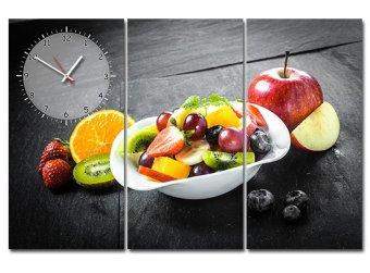 Tranh đồng hồ sắc màu hoa quả Suemall TA140707 (Đỏ)
