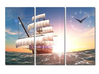 Tranh đồng hồ Suemall PT140701 (Thuận buồm xuôi gió)