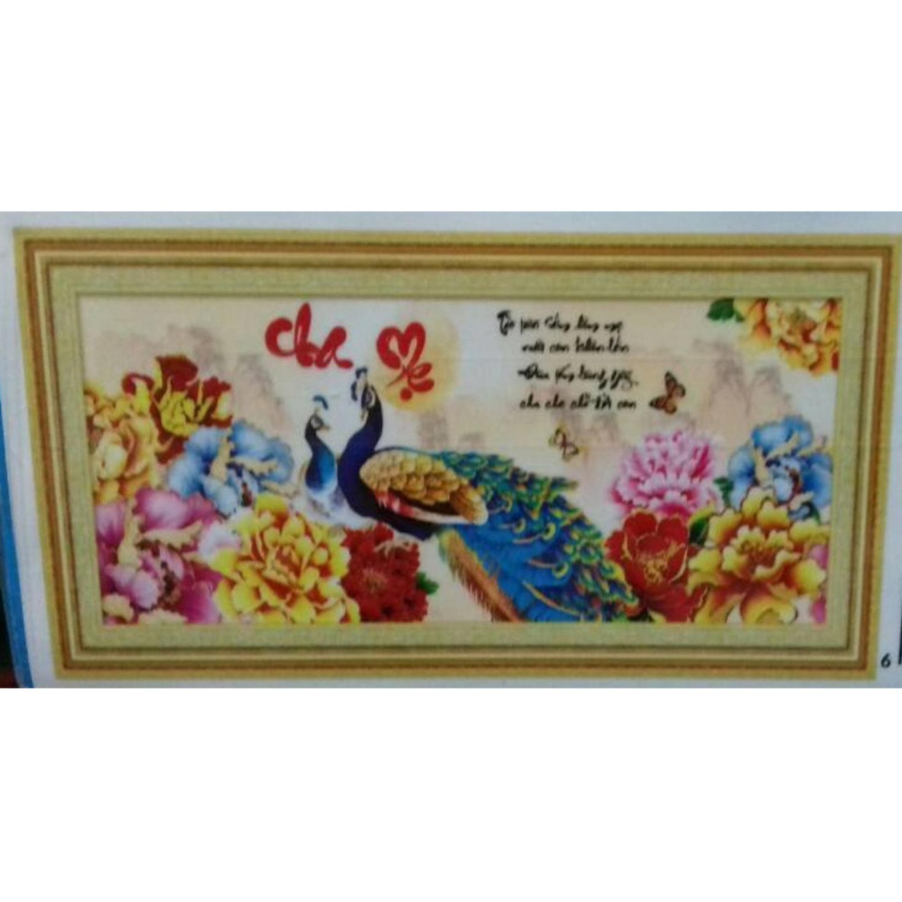 Tranh thêu chữ thập Cha mẹ YN2502-Siêu thị tranh thêu