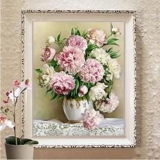 Tranh thêu chữ thập hoa Bình hoa monalisa M8458-Siêu thị tranh thêu