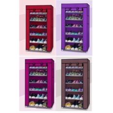 Tủ giày dép 7 tầng 6 ngăn bọc vải cao cấp siêu tiện dụng ( màu ngẫu nhiên )