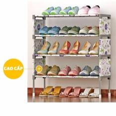 Giá KM Tủ inox đựng giày dép quần sao sách vở hình hoa KG-4T