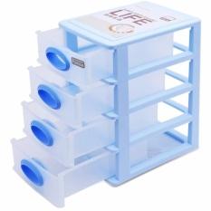 Tủ nhựa 4 ngăn khéo đựng đồ Famous RCB23 (Xanh)