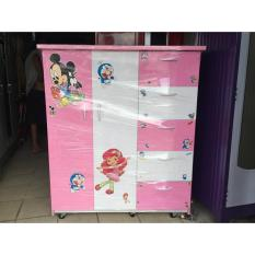 Tủ nhựa đài loan trẻ em 5 ngăn 2 cửa