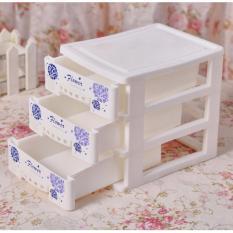 Tủ nhựa Flower 3 ngăn tiện dụng