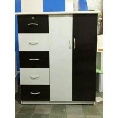 Tủ nhựa quần áo trẻ em màu trắng đen