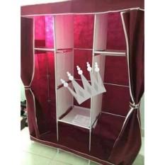 Tủ quần áo 3 buồng 8 ngăn khung inox siêu chắc chắn