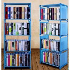 Tủ sách lắp ghép 4 tầng tiện dụng (màu xanh)