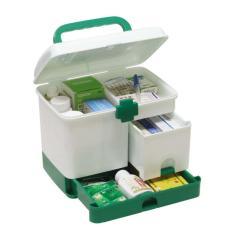 Tủ thuốc y tế cơ động 3 ngăn(Xanh Navy)