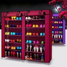 Tủ vải để giầy dép đa năng 6 tầng 12 ngăn B&Q (đỏ) – (BQ4-DO)