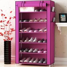 [ĐỒNG GIÁ 99K – 3 NGÀY DUY NHẤT] – Tủ Vải Đựng Giày 7 Tầng 6 Ngăn/tủ vải đựng giày tphcm