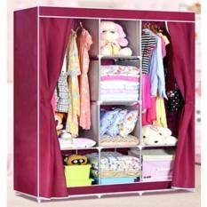 Tủ vải đựng quần áo 3 buồng 8 ngăn