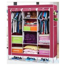 Tủ vải quần áo cỡ đại 3 buồng 8 ngăn cao cấp