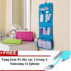 Túi đựng đồ trang điểm loại ưa thích nhất thị trường + Tặng 01 dây sạc điện thoại 2 trong 1