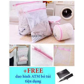 Túi giặt quần áo 30x40cm + free dao hình ATM tiện dụng