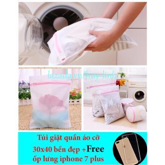 Túi giặt quần áo 30x40cm + free ốp lưng iphone 7plus