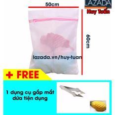 Ở đâu bán Túi giặt vuông cho máy giặt cỡ lớn 50x60cm + Tặng 1 gắp mắt dứa tiện dụng