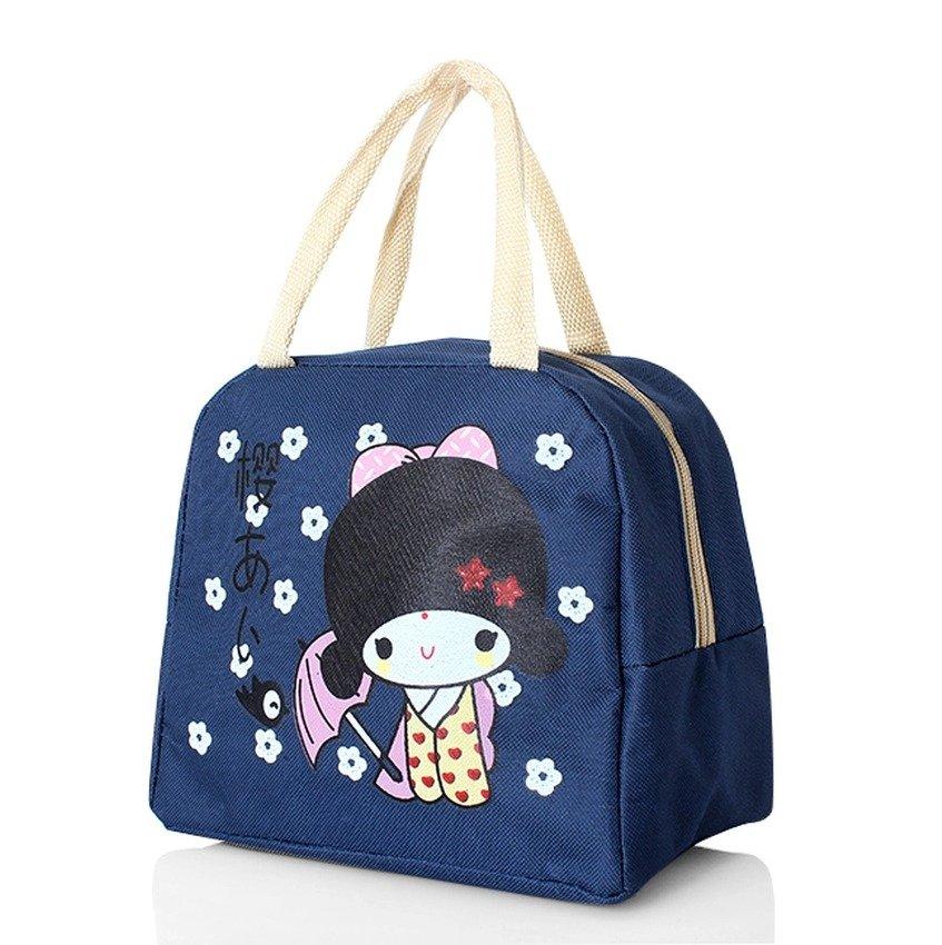 Túi giữ nhiệt cô gái Nhật (Xanh)