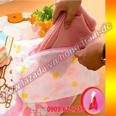 Giá Niêm Yết Túi lưới giặt đồ quần áo loại tốt – Hồng Trâm DC (ống trụ 22x33cm)