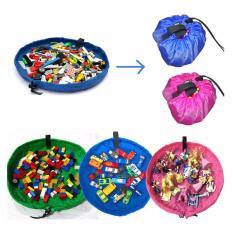 Túi rút, thảm lưu trữ đồ chơi toy storage bag 2 in 1 (hồng)