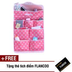 Túi treo tường 8 ngăn Flancoo 2221 (Hồng) + Tặng kèm thẻ tích điểm Flancoo