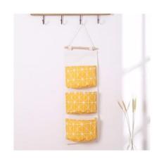 Túi vải 3 ngăn treo tường đựng đồ tiện ích