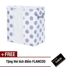 Túi vải đựng đồ chấm bi Size 50 Flancoo 7401 (Trắng) + Tặng kèm thẻ tích điểm Flancoo